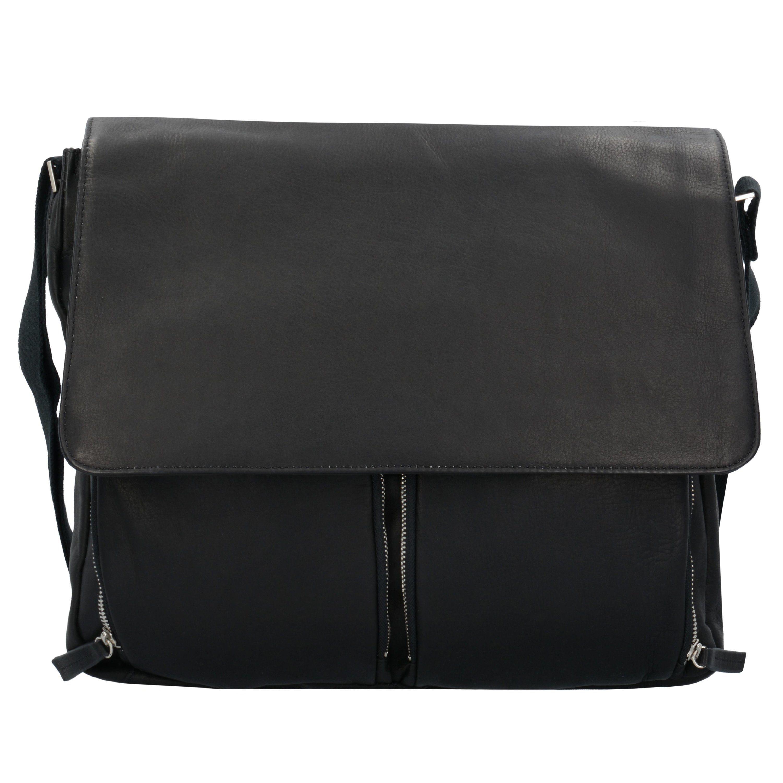Dermata Umhängetasche Messenger Bag Leder 42 cm