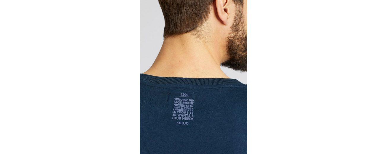 khujo Langarmshirt UWAY, mit Print der Front