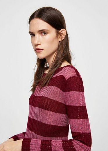 MANGO Pullover mit Metallic-Streifen