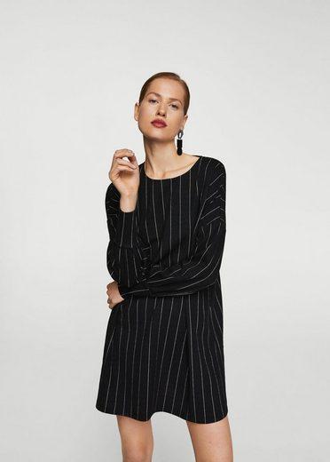 Mango Textured Stripe Dress