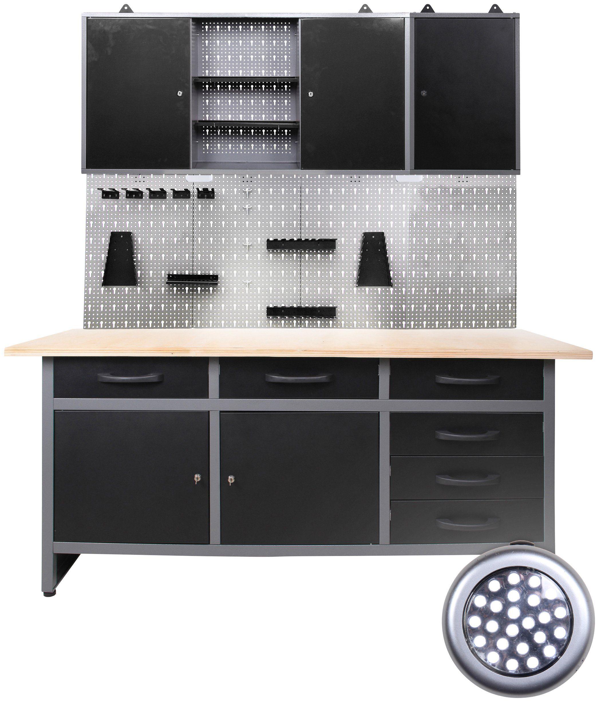 ONDIS24 Werkstatt-Set , 170 cm, mit LED