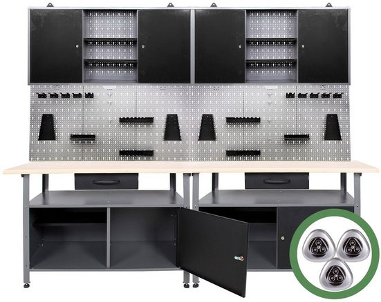ONDIS24 Werkstatt-Set »Klaus mit LED«, 240 cm