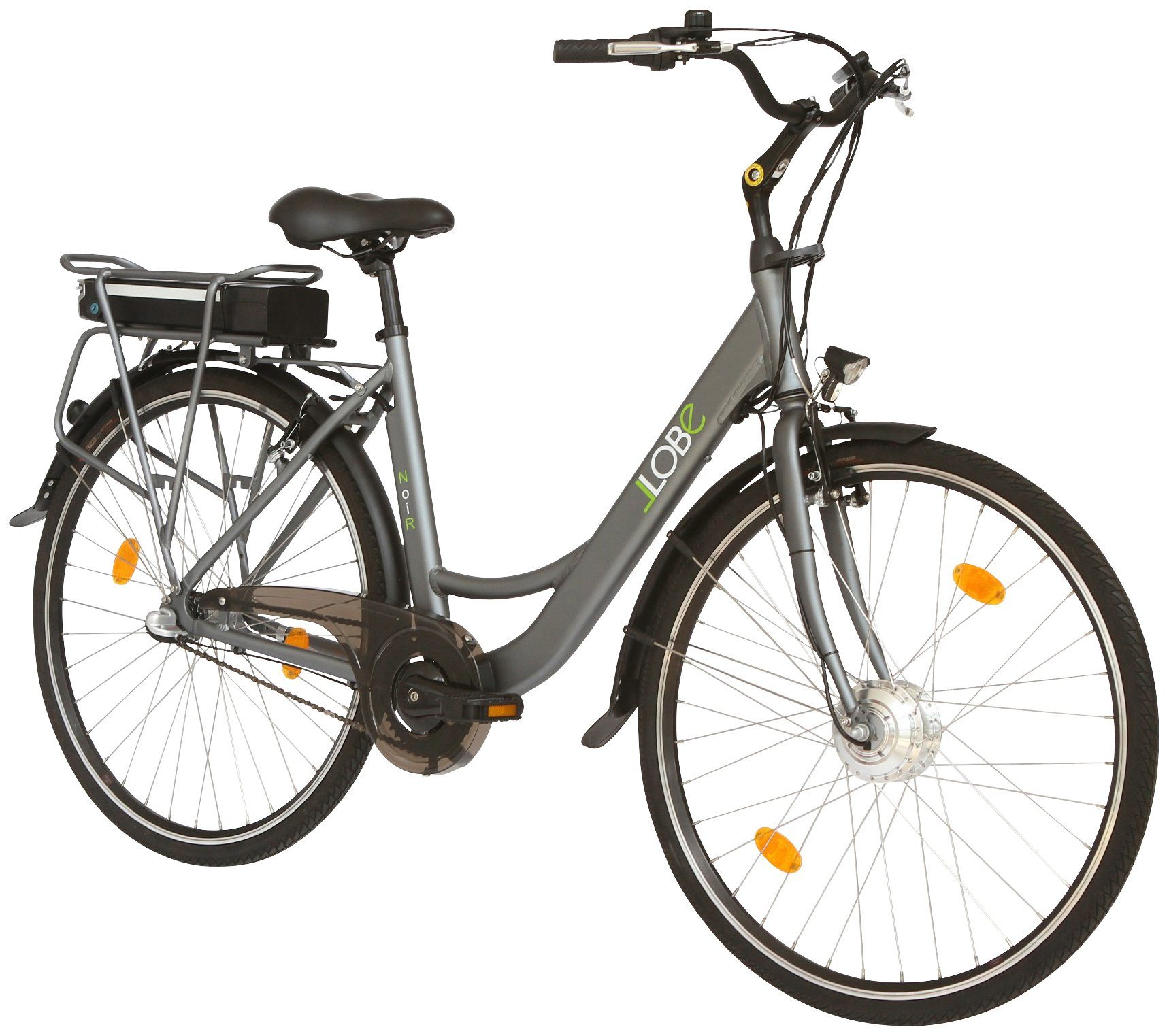 LLOBE E-Bike City Damen »Noir«, 28 Zoll, 3 Gang, 360 Wh