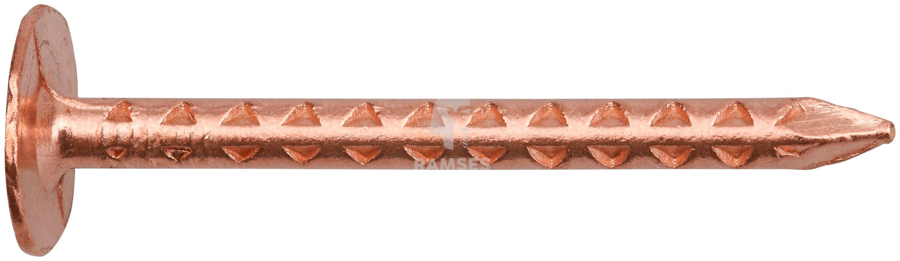 RAMSES Nagel , Dachpappstifte DIN 1160 2,8 x 35 mm Kupfer, 2,5 kg