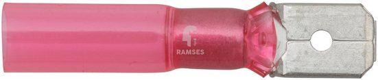 RAMSES Flachsteckzunge , rot 0,5 - 1,5 mm² Polyolefin 50 Stück