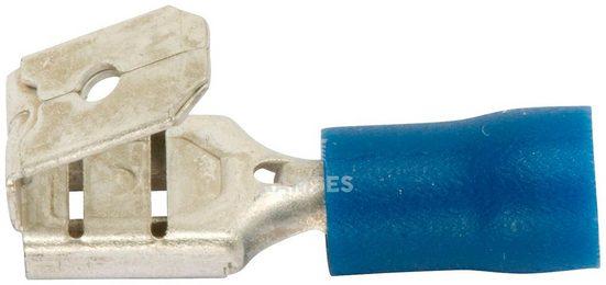 RAMSES Flachsteckhülsen , doppelt teilisoliert blau 1,5 - 2,5 mm² 6,3 x 0,8 100 Stk.