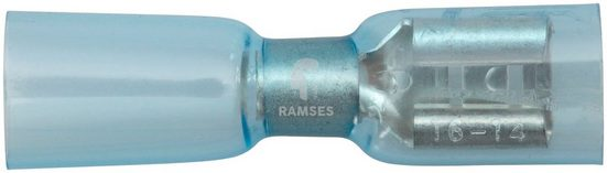 RAMSES Wärmeschrumpfflachsteckhuelse , 3:1 blau 6,3 / 1,5 - 2,5 mm² Polyolefin 50 Stück