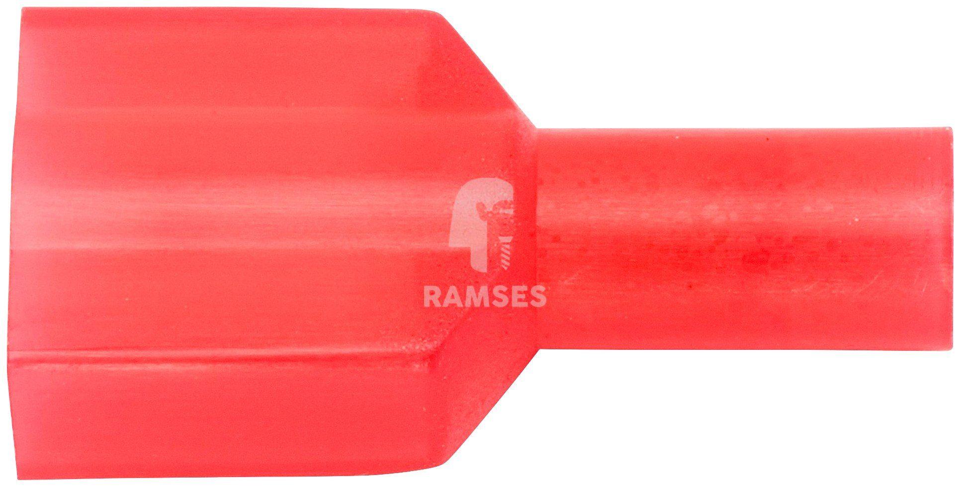 RAMSES Flachsteckzunge , vollisoliert rot 0,5 - 1,5 mm² 100 Stück