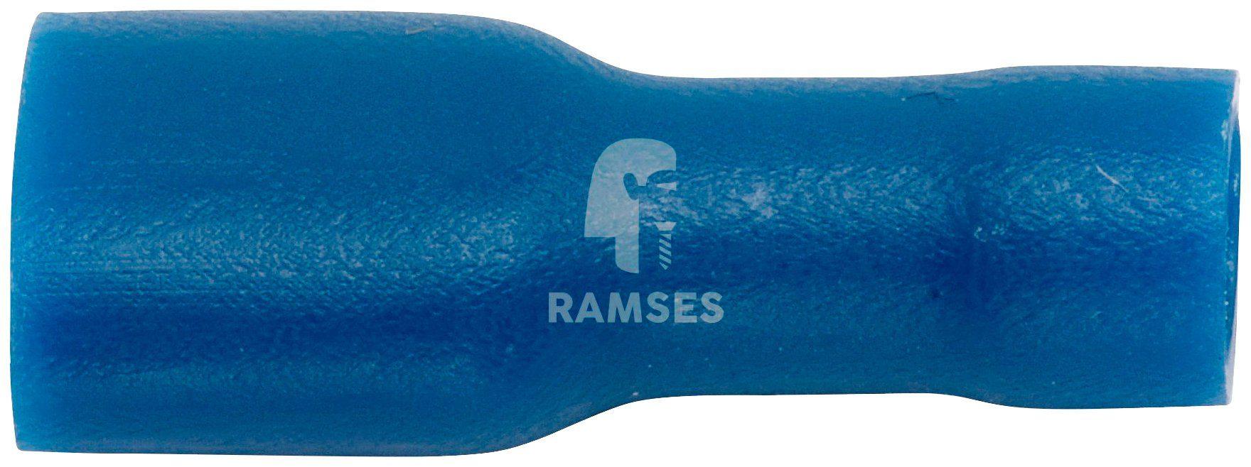 RAMSES Flachsteckhülsen , vollisoliert blau 1,5 - 2,5 mm² 6,3 x 0,8 100 Stück