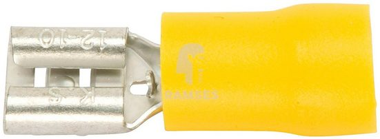 RAMSES Flachsteckhülsen , teilisoliert gelb 4 - 6 mm² 9,5 x 1,2 100 Stück