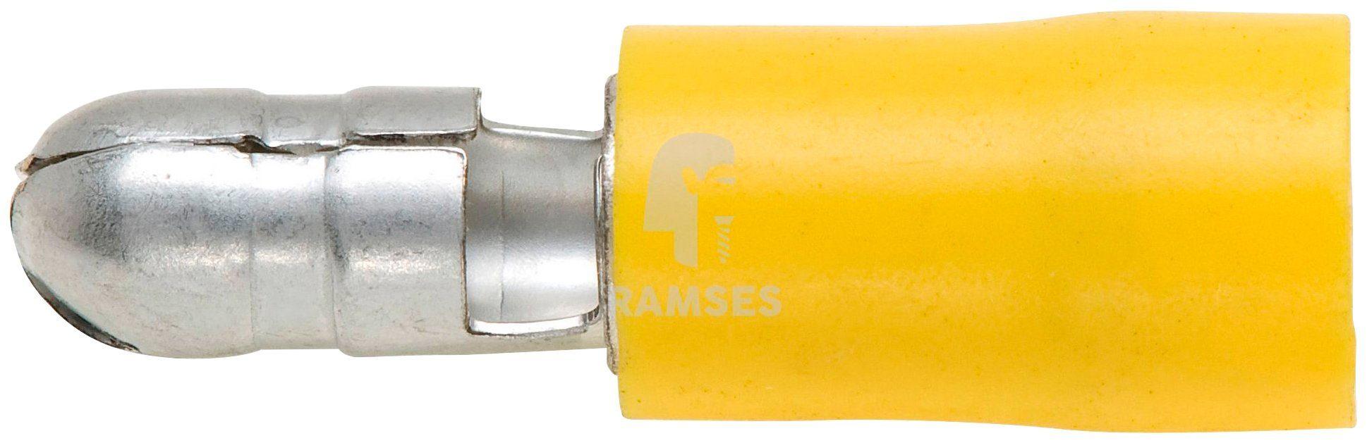 RAMSES Rundstecker-Set , teilisoliert gelb 5 mm 4 - 6 mm² 100 Stück