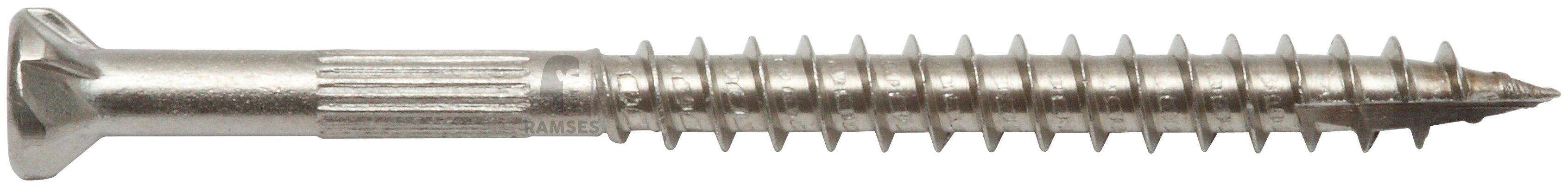 RAMSES Schrauben , Zaunschraube 4,5 x 60 mm mit Bit 100 Stk.