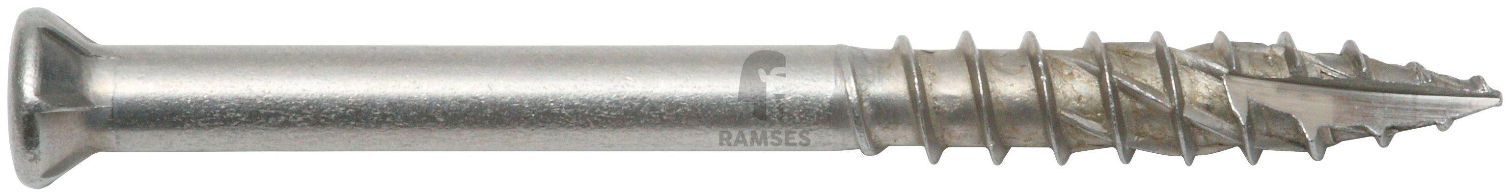RAMSES Schrauben , Terrassenschraube 5,5 x 70 mm A4 ttap 25 mit Bit 90 Stk.