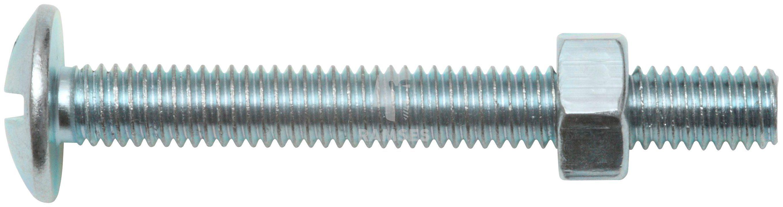 RAMSES Schrauben , Möbelschrauben und Mutter M6 x 60 mm 100 Stk.