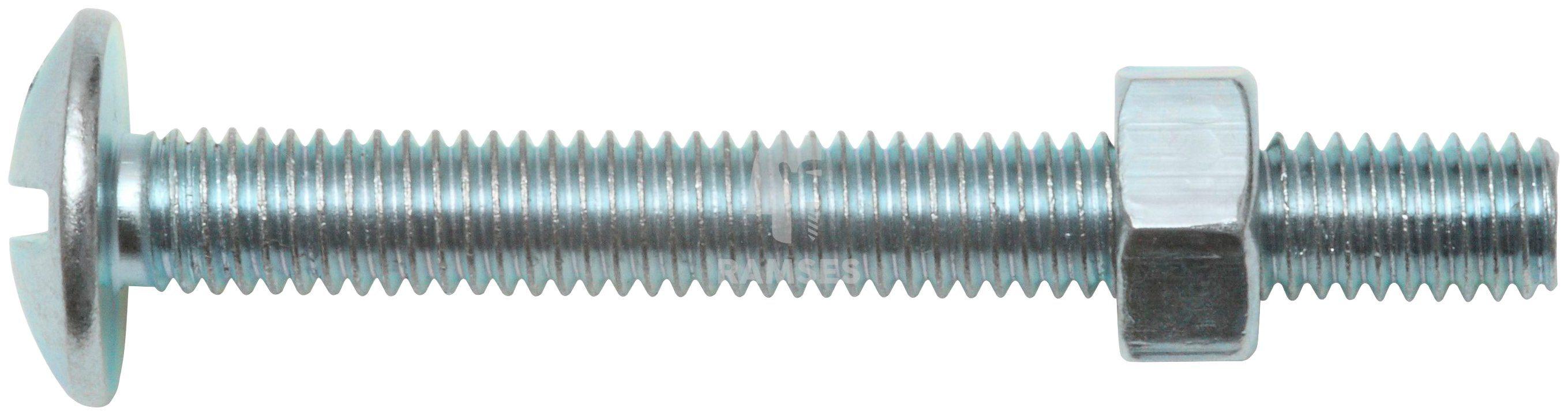 RAMSES Schrauben , Möbelschrauben und Mutter M5 x 60 mm 100 Stk.