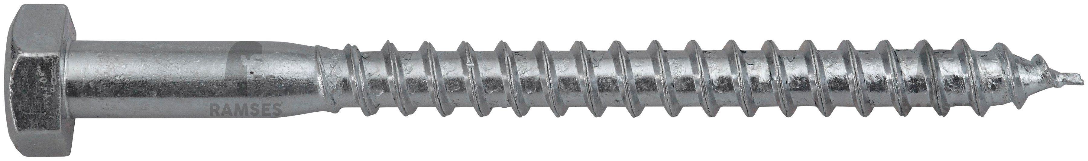 RAMSES Schrauben , Sechskant-Holzschraube 12 x 220 mm 25 Stk.