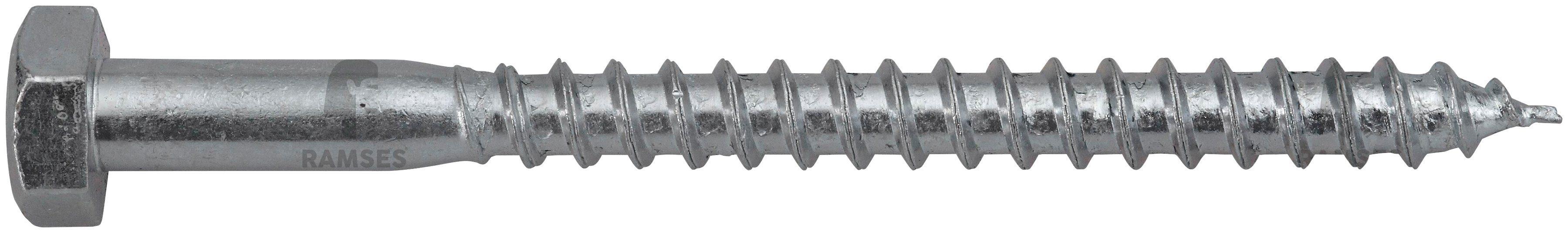 RAMSES Schrauben , Sechskant-Holzschraube 12 x 60 mm 50 Stk.