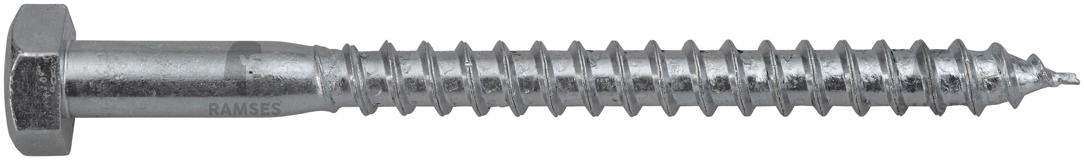 RAMSES Schrauben , Sechskant-Holzschraube 10 x 280 mm 25 Stk.