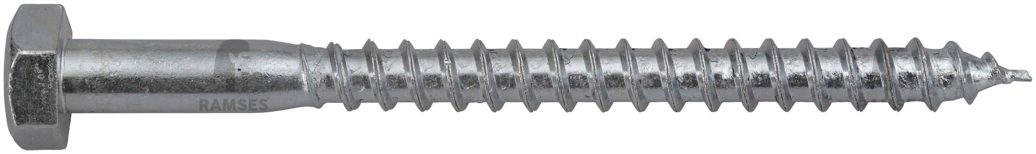 RAMSES Schrauben , Sechskant-Holzschraube 12 x 240 mm 25 Stk.