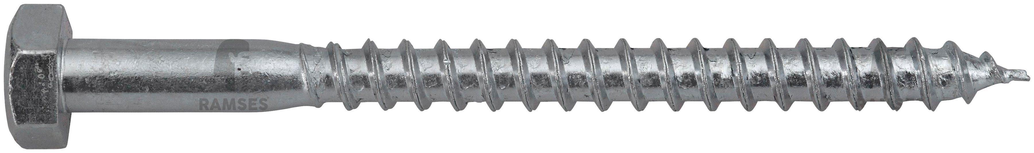 RAMSES Schrauben , Sechskant-Holzschraube 10 x 300 mm 25 Stk.