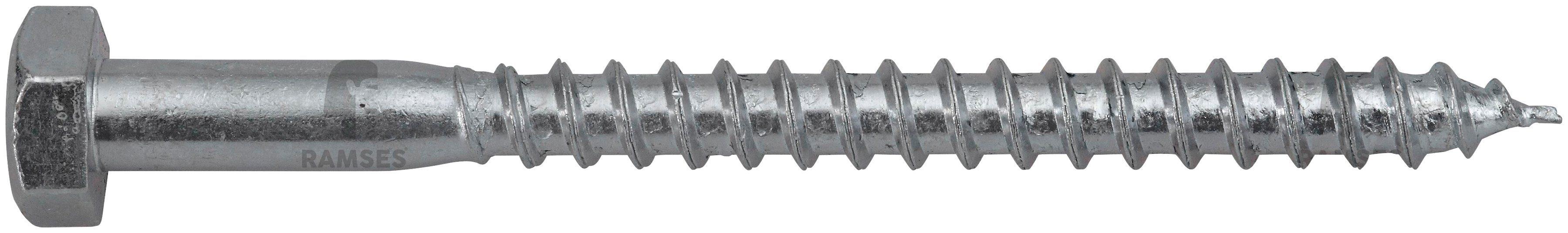 RAMSES Schrauben , Sechskant-Holzschraube 12 x 200 mm 25 Stk.