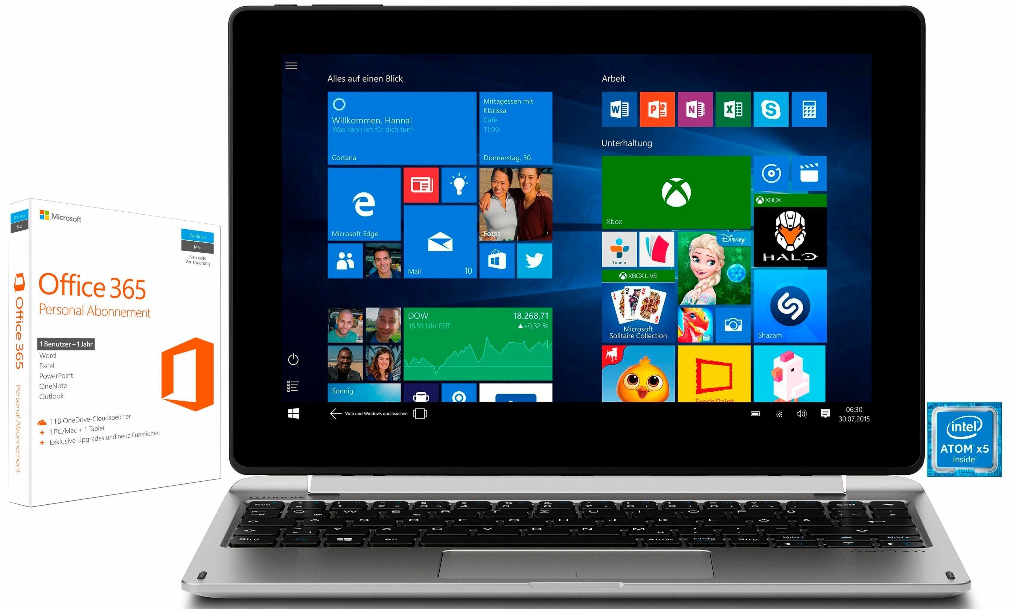 """MEDION® AKOYA E1239T (MD60618) 2in1 »Intel Atom x5, 25,7cm (10,1""""), 64 GB, 2 GB«"""