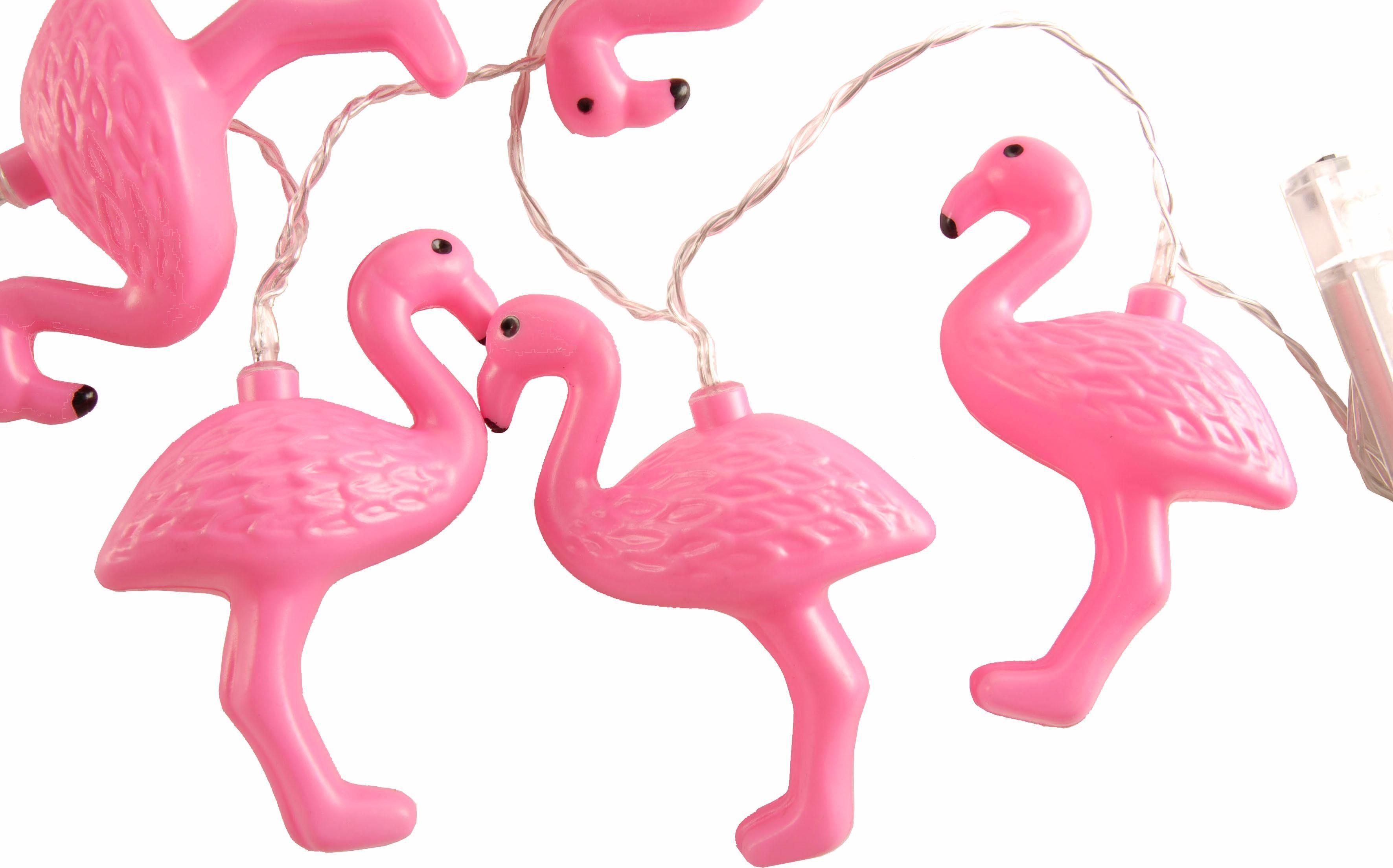 Home affaire LED-Girlande »Flamingos pink«