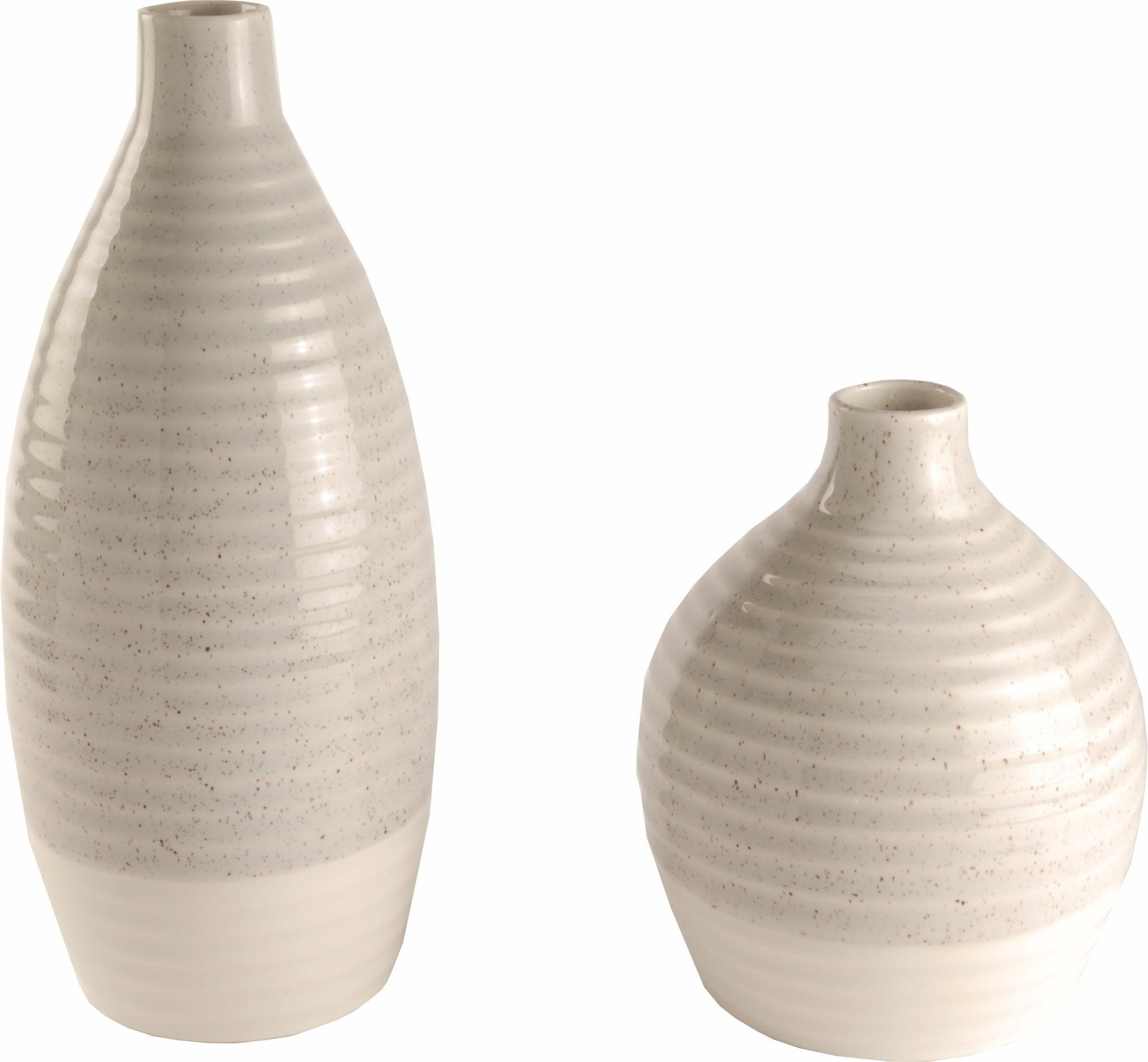 Home affaire Vase »14/17 cm und 12/27 cm« (2er Set)