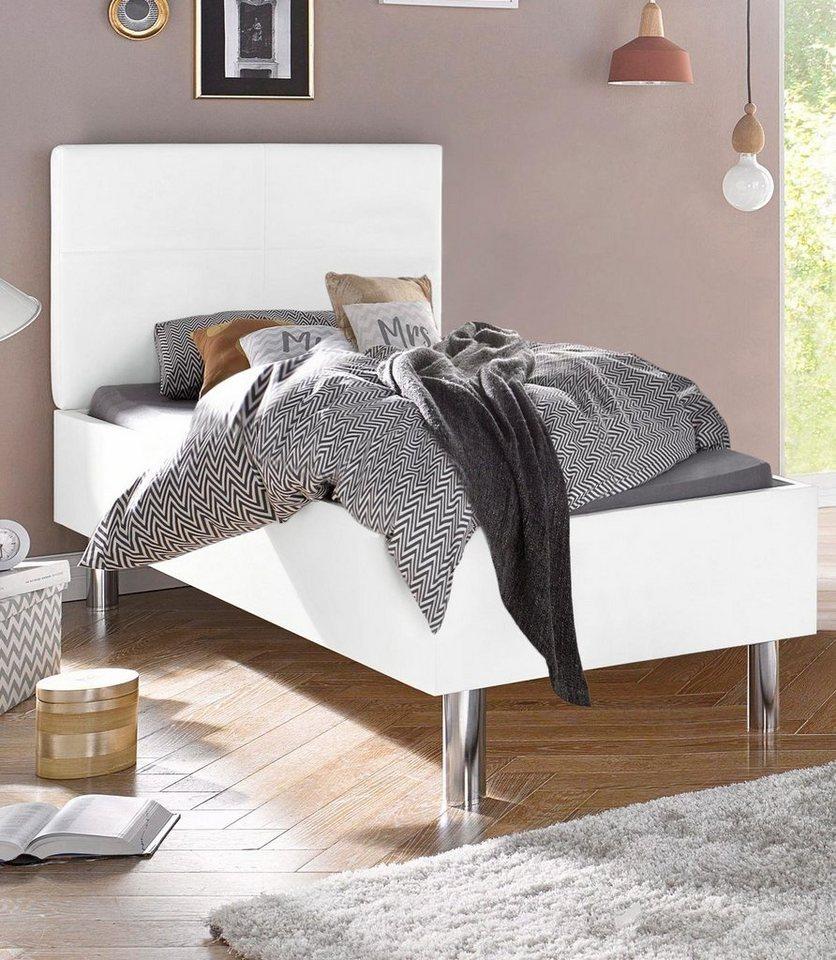 express solutions bett malm mit polsterkopfteil online kaufen otto. Black Bedroom Furniture Sets. Home Design Ideas