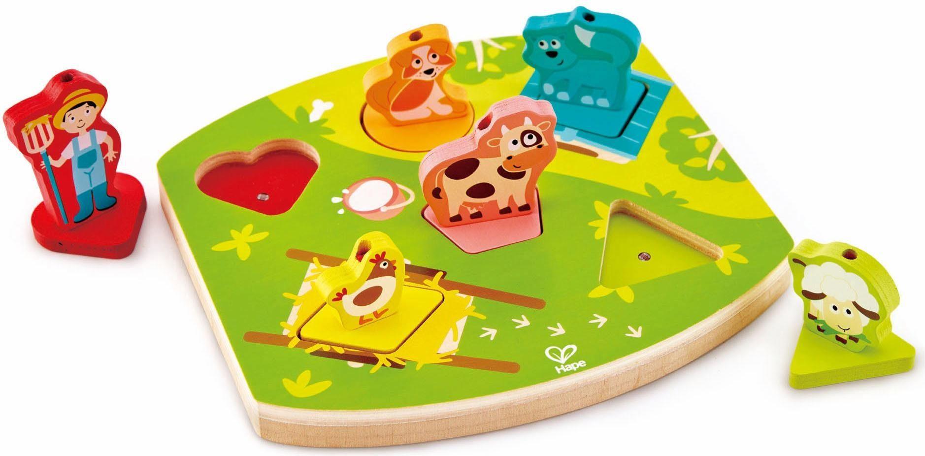 Hape Steckspiel mit Sound, »Bauernhof-Geräusche-Puzzle«