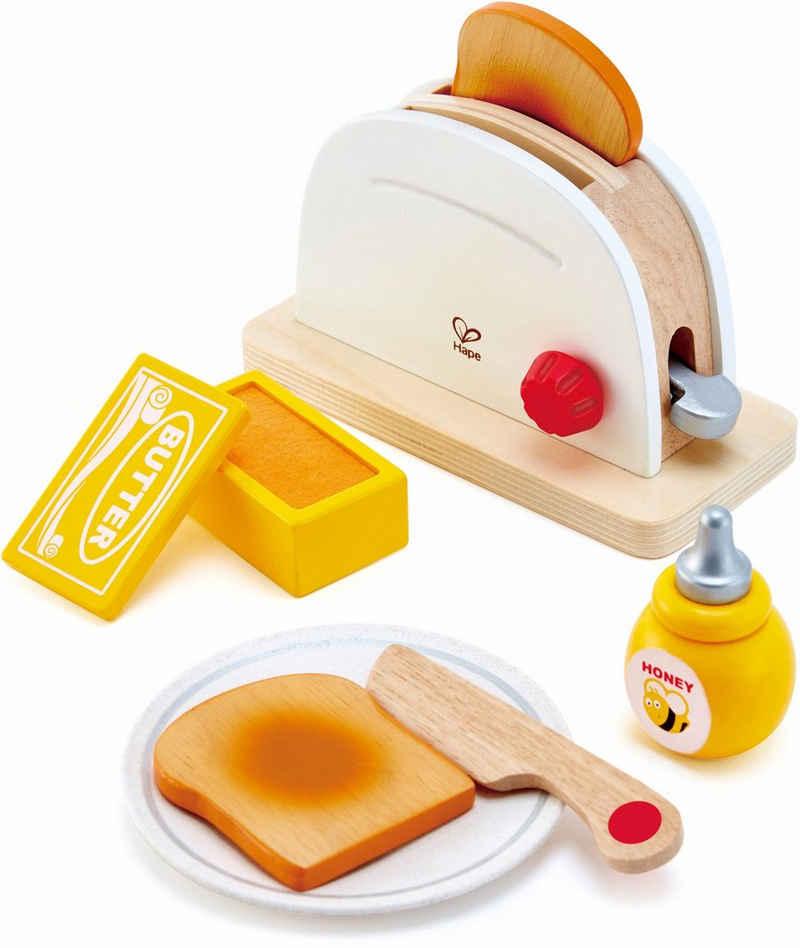 Hape Kinder-Toaster »Pop-Up-Toaster-Set, 7-tlg.«, (Set, 7-tlg), aus Holz