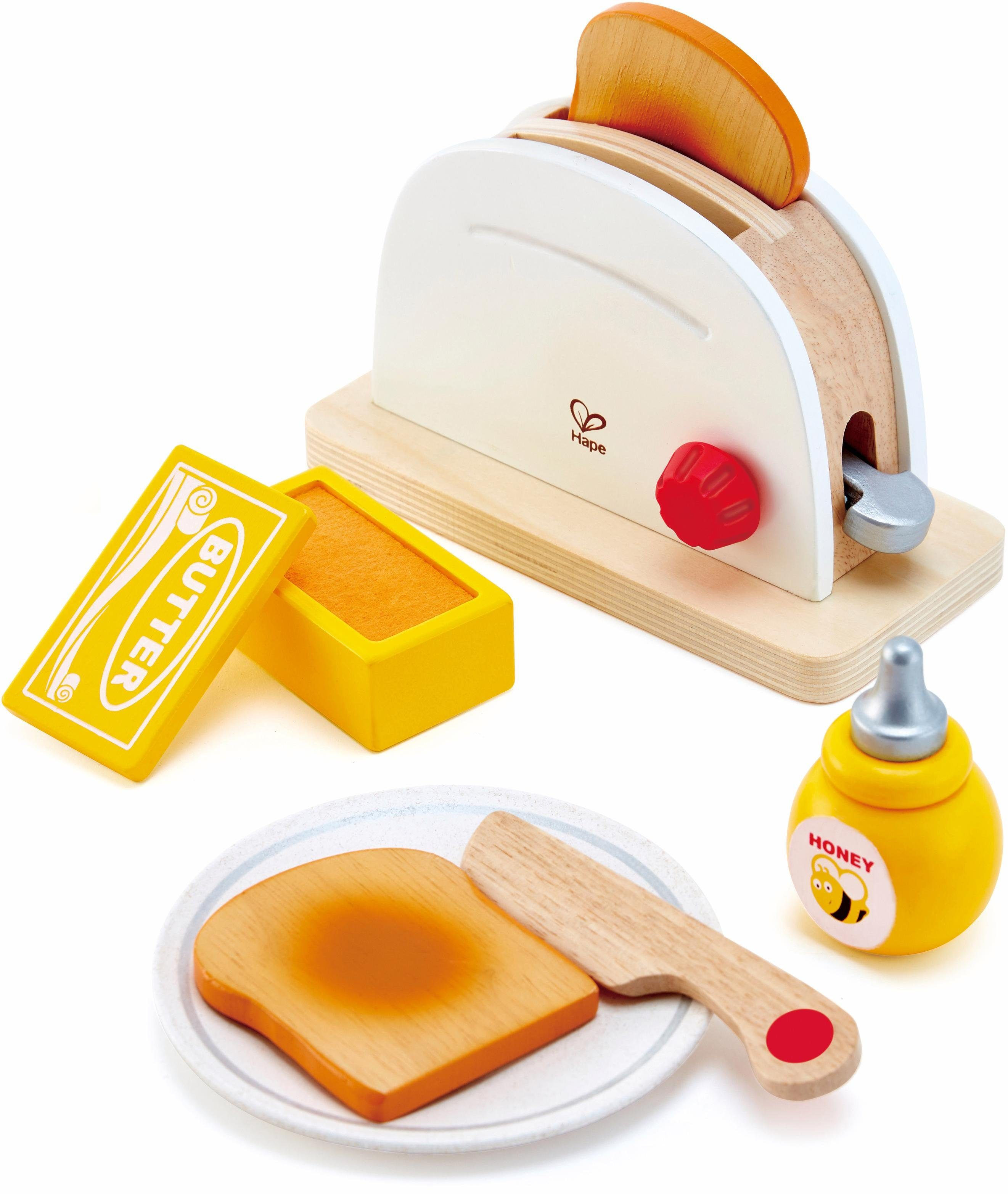 Hape Kinderküchenzubehör aus Holz, »Pop-Up-Toaster-Set, 7-tlg.«