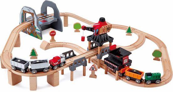 Hape Spielzeug-Eisenbahn »Bergbau-Spielset, 69-tlg.«, (Set, 69-tlg)