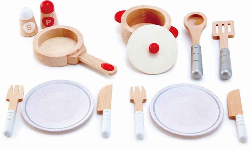 Hape Spielgeschirr »Koch- & Servierset, 13-tlg.«, (Set, 13-tlg), aus Holz