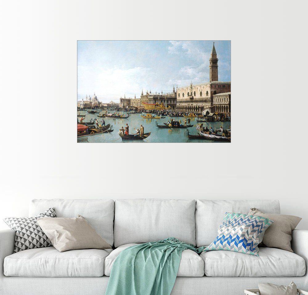 Posterlounge Wandbild - Bernardo Bellotto (Canaletto) »Das Hafenbecken von San Marco am Himmel...«