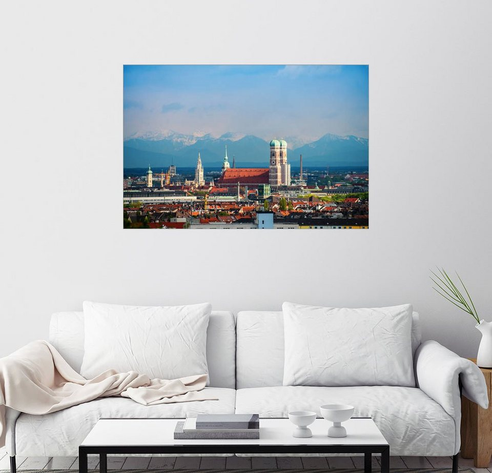 posterlounge wandbild euregiophoto m nchen alpenblick online kaufen otto. Black Bedroom Furniture Sets. Home Design Ideas