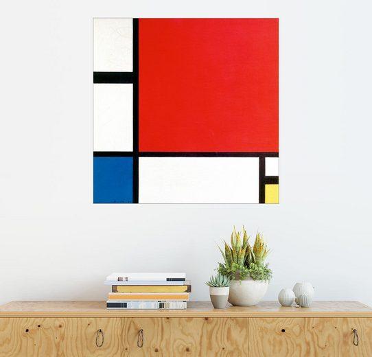 Posterlounge Wandbild - Piet Mondrian »Komposition mit Rot, Gelb und Blau«