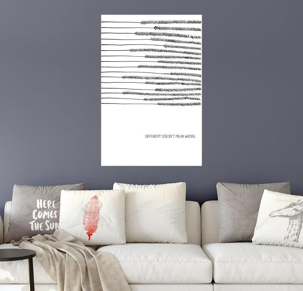 Posterlounge Wandbild - SMUCK »Different Doesn´t Mean Wrong« | Dekoration > Bilder und Rahmen > Bilder | Holz | Posterlounge