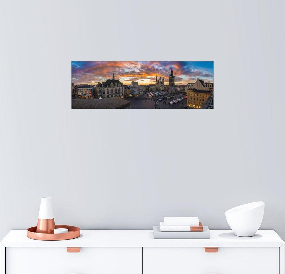 posterlounge wandbild halle saale 5 t rme im licht halle panorama online kaufen otto. Black Bedroom Furniture Sets. Home Design Ideas