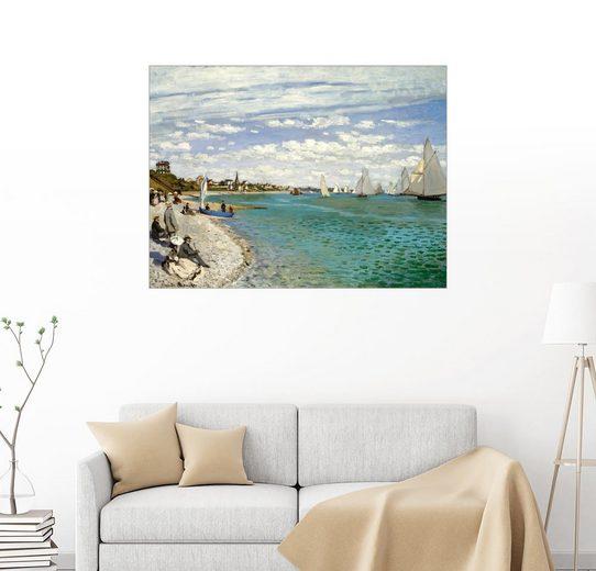 Posterlounge Wandbild - Claude Monet »Regatta in Sainte-Adresse«