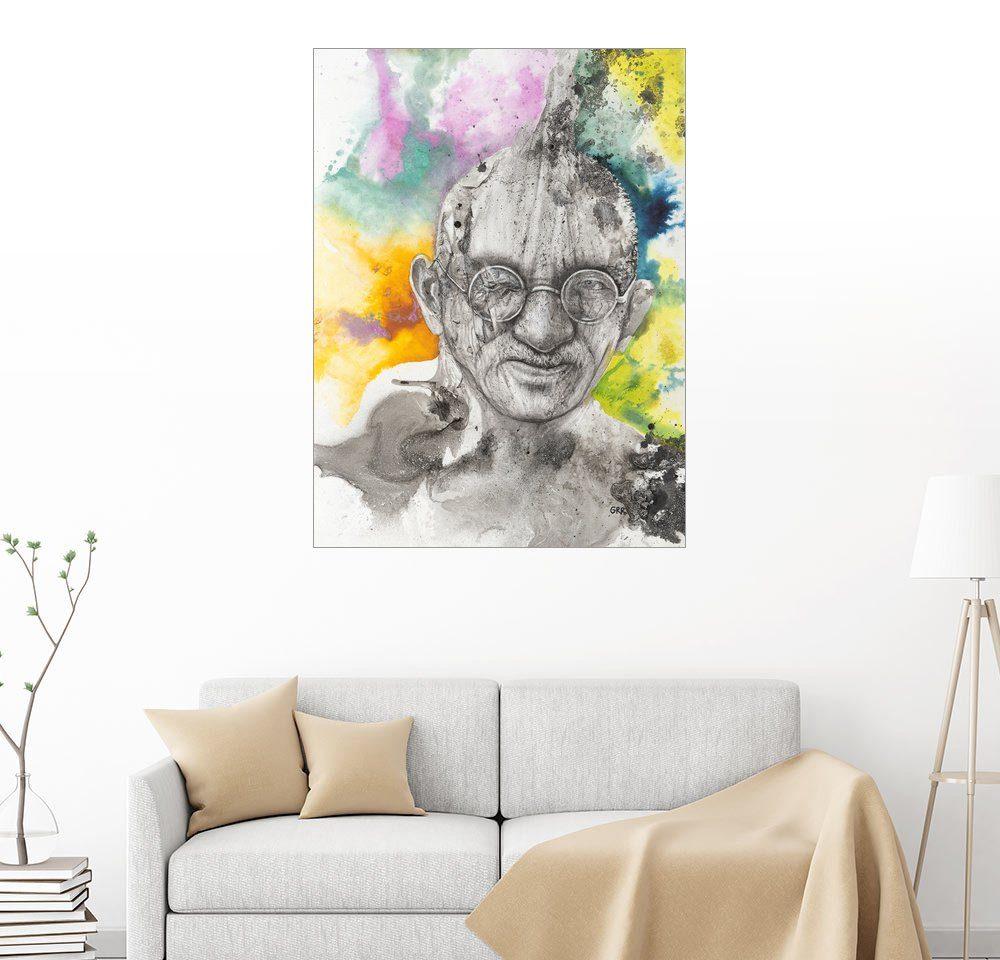 Posterlounge Wandbild - Glen Ronald »Illustration of Mahatma Gandhi«