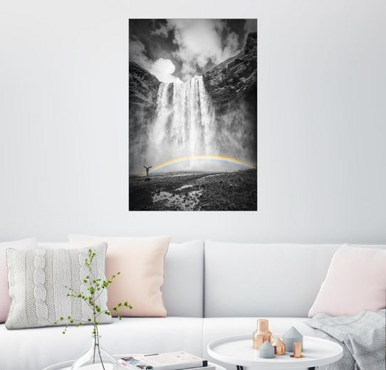 Posterlounge Wandbild - Melanie Viola »ISLAND Skogafoss«