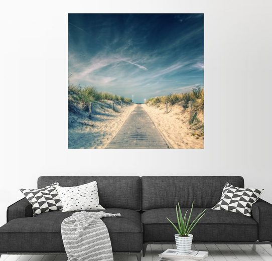 Posterlounge Wandbild - Thomas Deter »Strandaufgang«