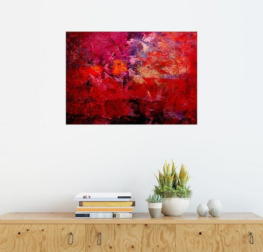 Posterlounge Wandbild - Wolfgang Rieger »enlightened red«