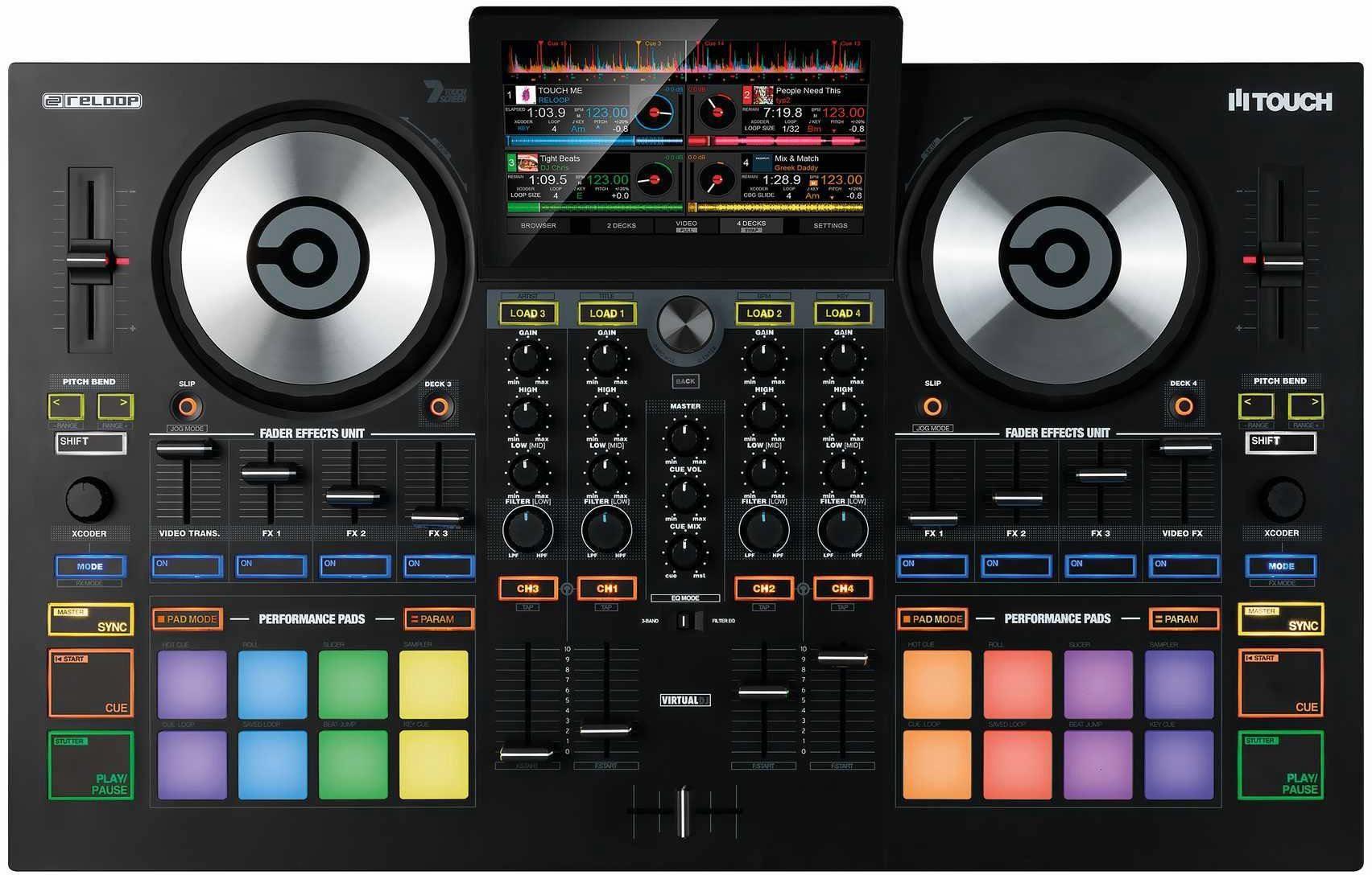 Reloop DJ Controller mit Touchscreen, »Touch«