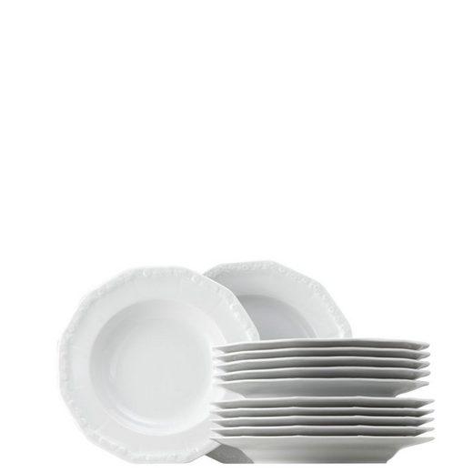 Rosenthal Tafelservice »Maria Weiß Set 12-tlg.« (12-tlg), Porzellan