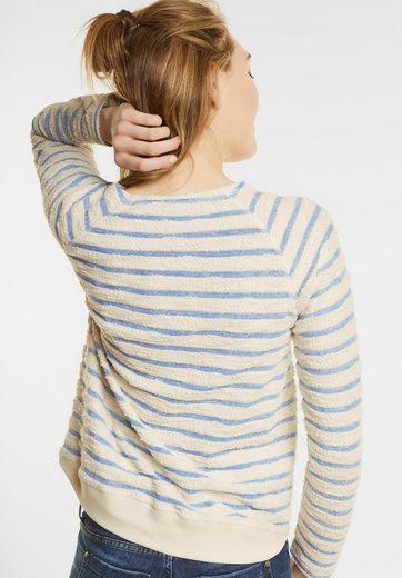 Street One Bouclé Streifen Pullover