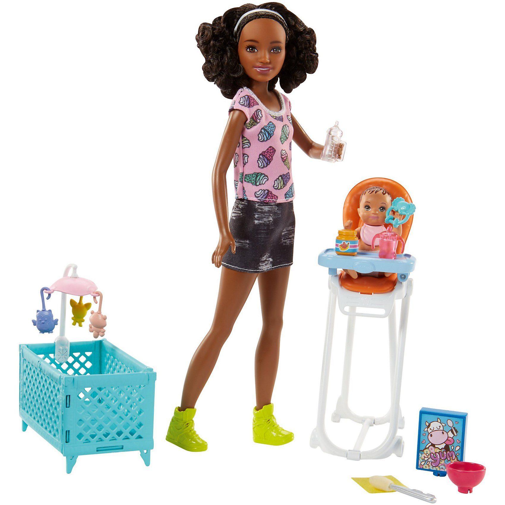 """Mattel® Barbie """"Skipper Babysitters Inc."""" Puppen und Hochstuhl Spiel"""