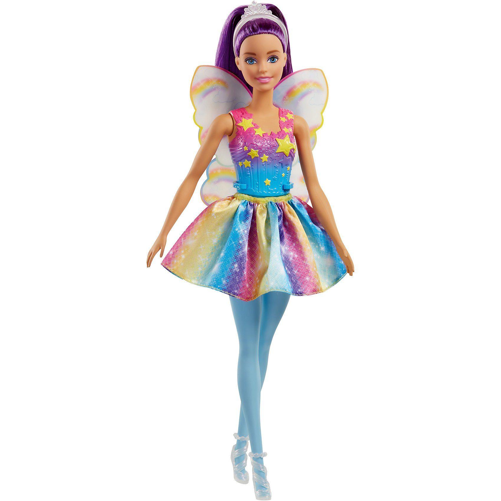Mattel® Barbie Dreamtopia Fee: Regenbogen-Fee (lila Haare)