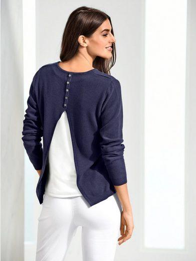 Alba Moda Pullover mit 2-in-1-Optik im Rücken